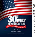 memorial day. remember and... | Shutterstock .eps vector #412971349