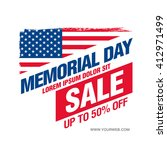 memorial day sale banner... | Shutterstock .eps vector #412971499