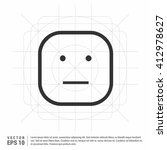 face icon  flat smiley face... | Shutterstock .eps vector #412978627