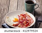 english breakfast with fried... | Shutterstock . vector #412979524