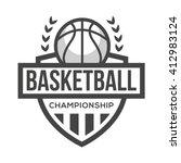 sport basketball logo. black...   Shutterstock .eps vector #412983124