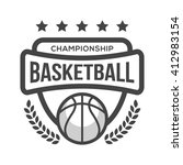 sport basketball logo. black...   Shutterstock .eps vector #412983154