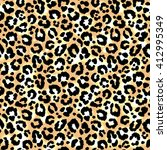 seamless leopard pattern.... | Shutterstock .eps vector #412995349