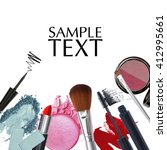 cosmetic promotion with copy... | Shutterstock . vector #412995661