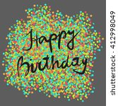 festive happy birthday... | Shutterstock .eps vector #412998049