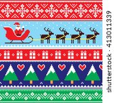christmas jumper or sweater... | Shutterstock .eps vector #413011339