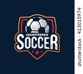 soccer logos  american logo... | Shutterstock .eps vector #413015974