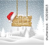realistic christmas background | Shutterstock .eps vector #413018815
