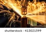 spot welding industrial... | Shutterstock . vector #413021599