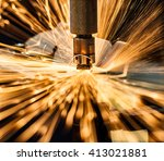 industrial welding automotive... | Shutterstock . vector #413021881