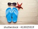 summer concept with beach... | Shutterstock . vector #413025319