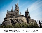 hogwarts school of witchcraft... | Shutterstock . vector #413027209