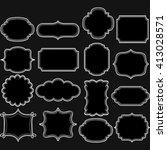black and white label frames... | Shutterstock .eps vector #413028571