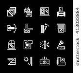 set icons of modern window | Shutterstock .eps vector #413033884