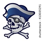 pirate mascot | Shutterstock .eps vector #413035291