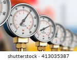 oil and gas fuel manufacturing... | Shutterstock . vector #413035387