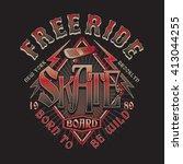 skate typography  t shirt... | Shutterstock .eps vector #413044255