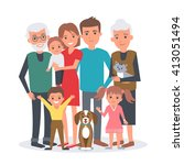 big family illustration. big... | Shutterstock . vector #413051494