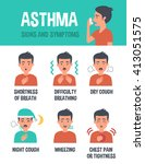 asthma infographic. asthma... | Shutterstock . vector #413051575