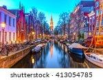 Night View Of Zuiderkerk In...