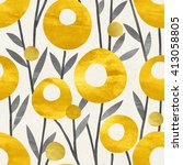 seamless floral pattern on... | Shutterstock . vector #413058805