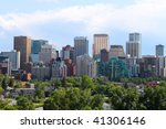 skyline view of highrise office ... | Shutterstock . vector #41306146