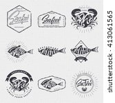 seafood  badge for your design  ... | Shutterstock .eps vector #413061565