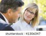 portrait of a businesswoman and ... | Shutterstock . vector #41306347