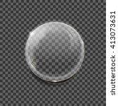 realistic vector of transparent ... | Shutterstock .eps vector #413073631