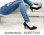 female feet | Shutterstock . vector #413077114