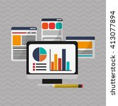 digital marketing design.... | Shutterstock .eps vector #413077894