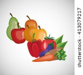healthy food design. organic... | Shutterstock .eps vector #413079217