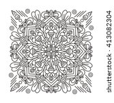 hand drawn mandala with ethnic... | Shutterstock .eps vector #413082304