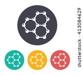 vector flat graphene icon with... | Shutterstock .eps vector #413084629