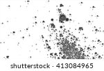 abstract black particles on a... | Shutterstock . vector #413084965