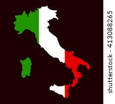 art map flag of italy. vector... | Shutterstock .eps vector #413088265