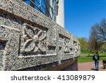 detail in granite of flower... | Shutterstock . vector #413089879