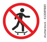 no skateboarding sign | Shutterstock .eps vector #413089885