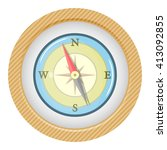 vector colorful compass icon | Shutterstock .eps vector #413092855