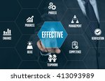 effective technology... | Shutterstock . vector #413093989