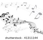 musical notes background with... | Shutterstock . vector #41311144