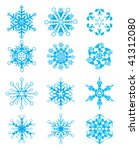 vector snowflakes for christmas ... | Shutterstock .eps vector #41312080