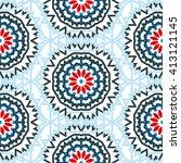 vector tribal colorful bohemian ... | Shutterstock .eps vector #413121145