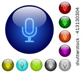 set of color microphone glass...