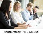 business people working... | Shutterstock . vector #413131855