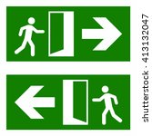 emergency fire exit sign | Shutterstock .eps vector #413132047