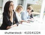 business people working...   Shutterstock . vector #413141224