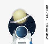 astronaut sign. space concept.... | Shutterstock .eps vector #413146885