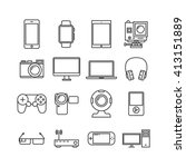 outline device and gadget  icon | Shutterstock .eps vector #413151889