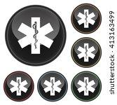 medical symbol icon glossy... | Shutterstock . vector #413163499